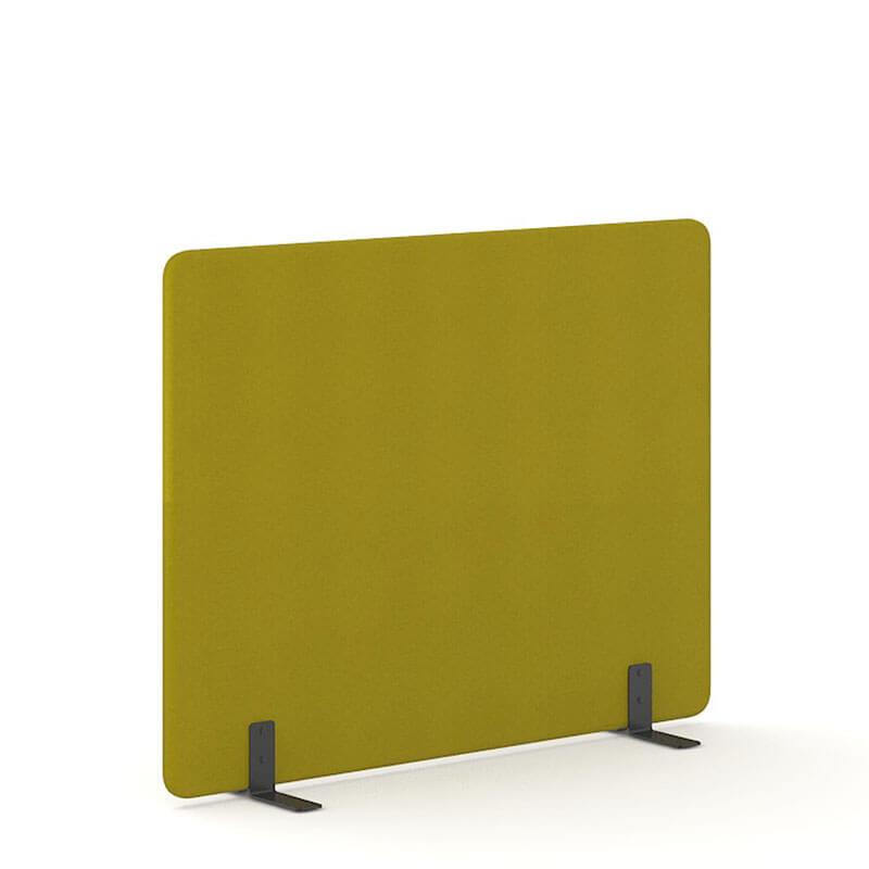 Mosterkleurige 140cm hoge akoestische scheidingswanden officetopper