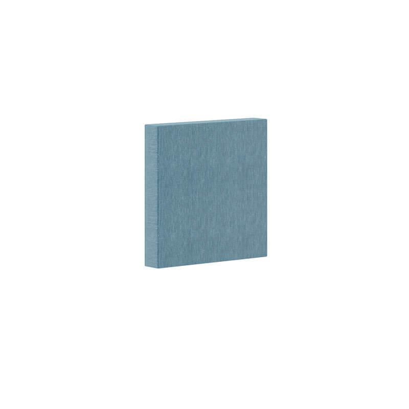 Blauw Vierkant geluidsabsorberend paneel 30x30cm Berta Officetopper