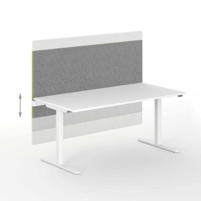 akoestische scheidingwand Modus Officetopper gebruikt kantoormeubilair