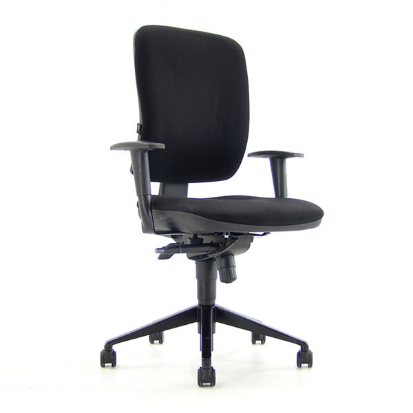Bureaustoel Beta zwart gestoffeerd