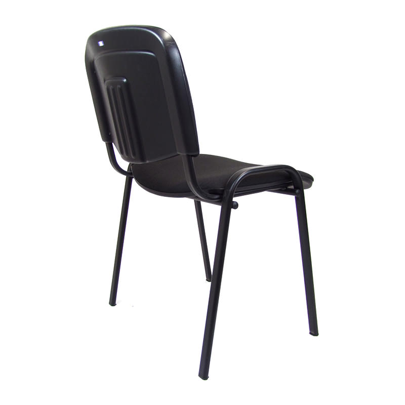Zwarte Iso Kantine stoel Officetopper goedkope kantinestoelen