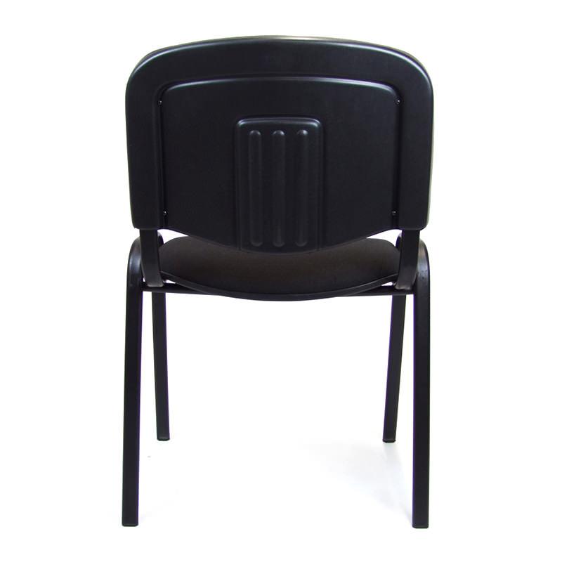 Vergaderstoel Iso met zwarte stoffering en zwart 4-poots ondersetel Officetopper nieuw kantoormeubilair