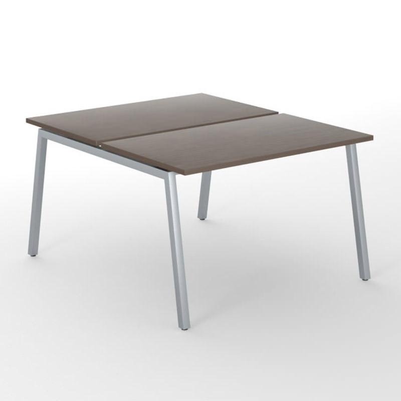 Bench werkplek met aluminium onderstel Nova A Officetopper