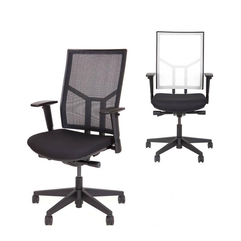 Ergnomische bureaustoel O.T. 04 met diverse rugkleuren