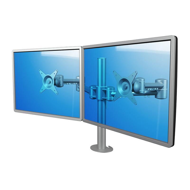 Dataflex ViewMate - bureau 632 dubbele monitorarm Officetopper monitorarmen
