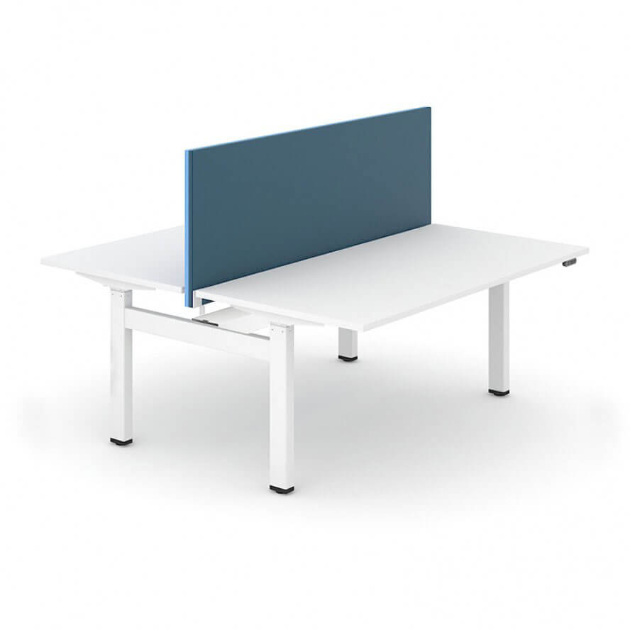 bench staan bureau met scheidingswand