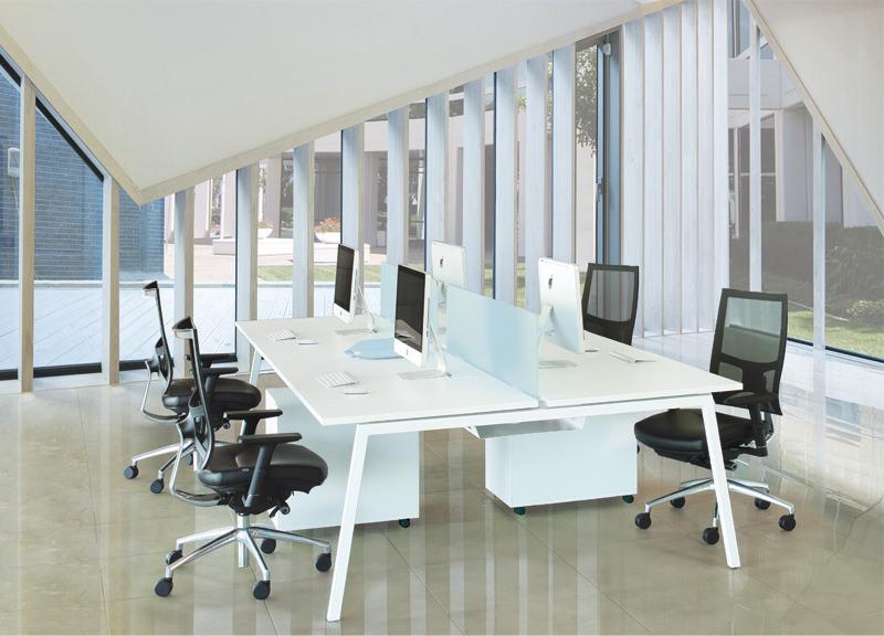 Bench werkplekken Nova A 120x144cm Officetopper