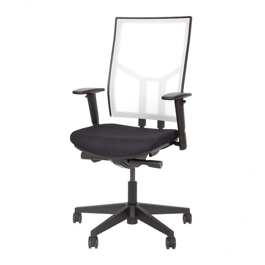 Bureaustoel met witte mesh rug