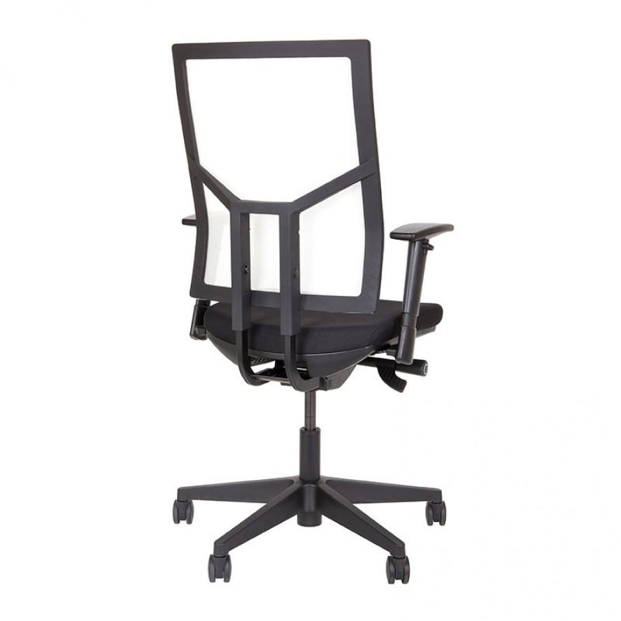 Bureaustoel met witte netbespannen rug