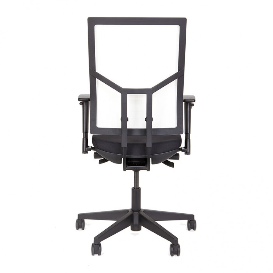Witte mesh rug bureaustoel met zwarte zitting