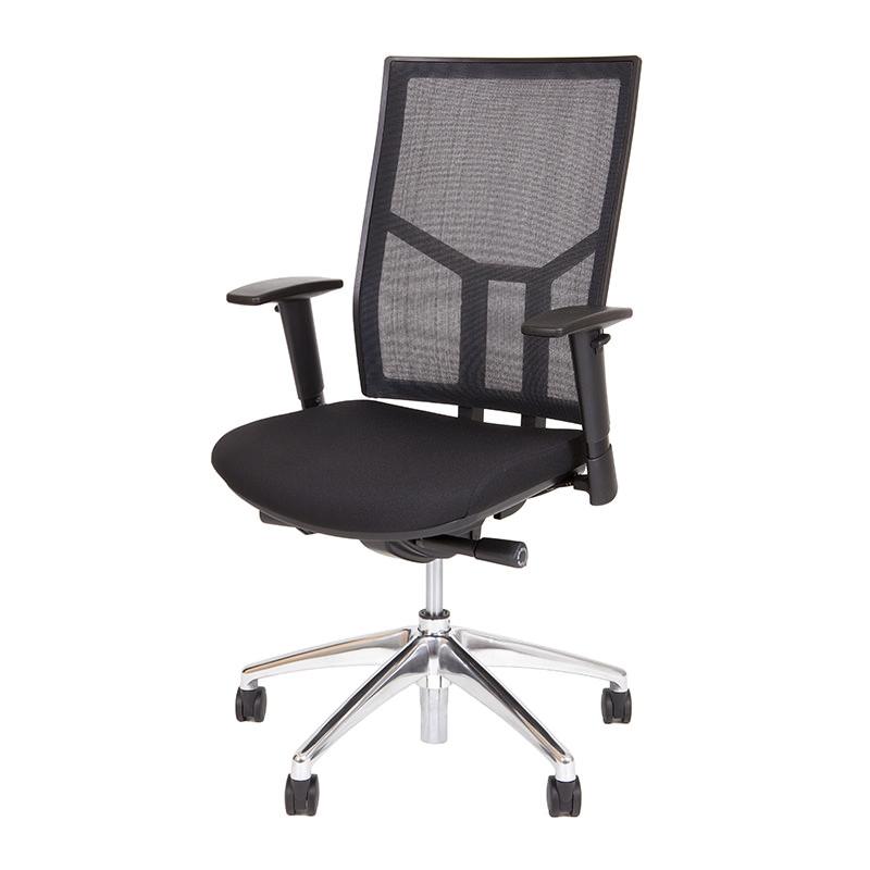 Ergonomische bureaustoel o.t. 04 Officetopper netbespannen rug zwart voordelige bureaustoelen