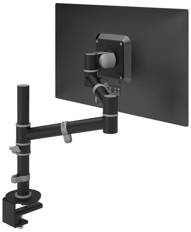 Ergonomische monitorarm ViewGo zwart Officetopper scherp geprijsde monitorarmen