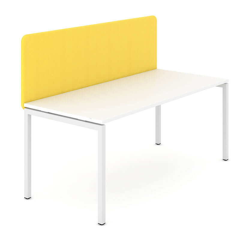 GC3 - Gele akoestische bureau scheidingswand Officetopper