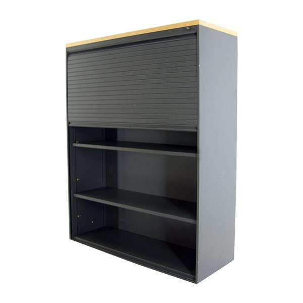 Gebruikte roldeurdeurkast met één roldeur Officetopper