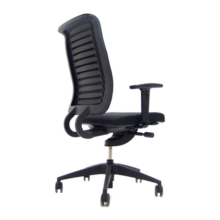 Girsberger bureaustoel Reflex zwarte stoffering Officetopper