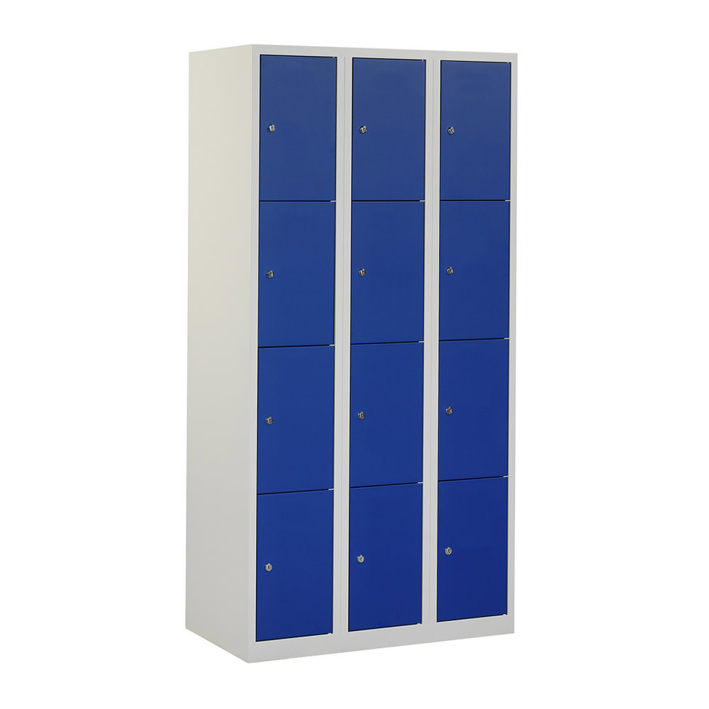 grijze-locker-3-kolommen---12-blauwe-deuren-Officetopper