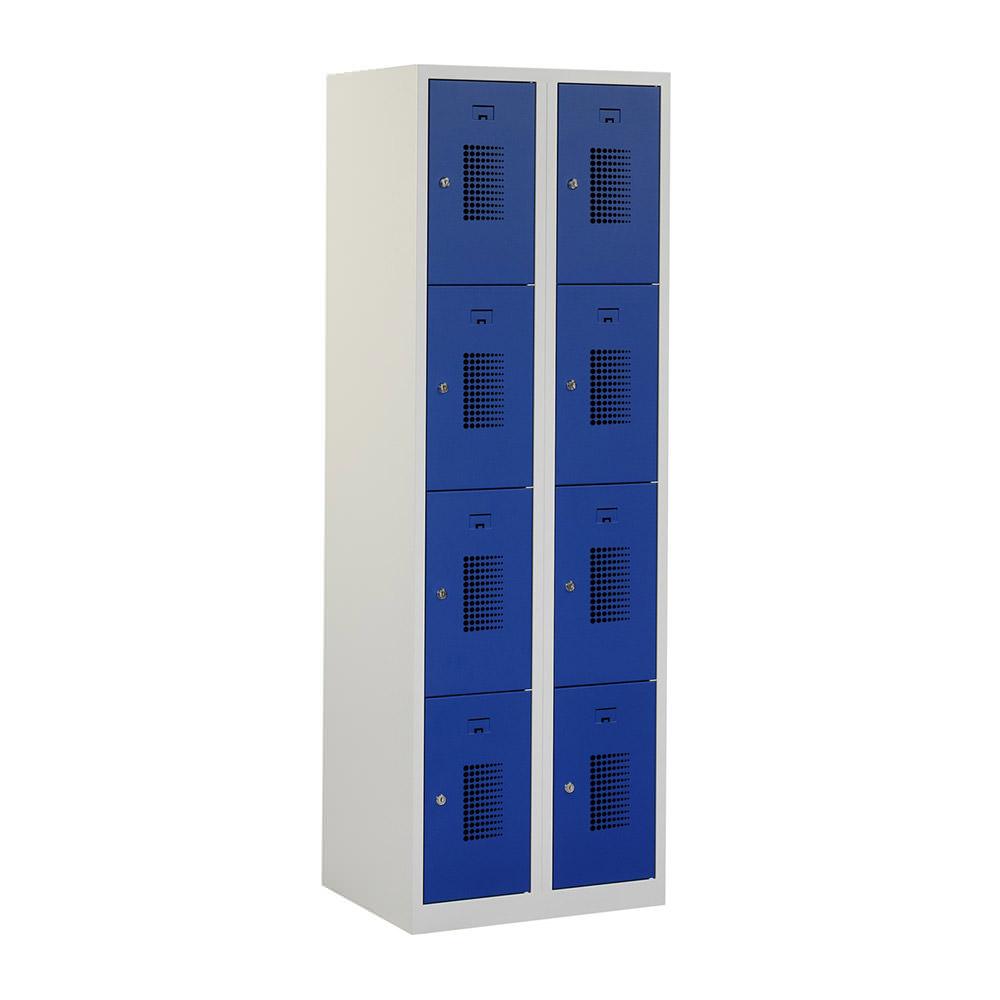 Grijze-locker-2-kolommen---8-blauwe-deuren-Officetopper