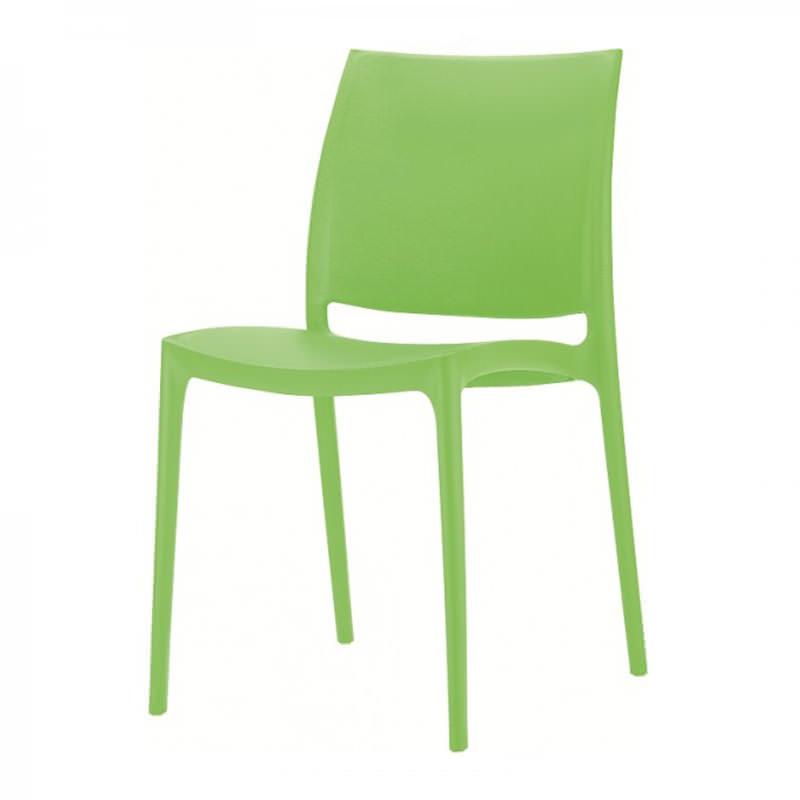 Groene kantinestoel Max Huislijn Officetopper