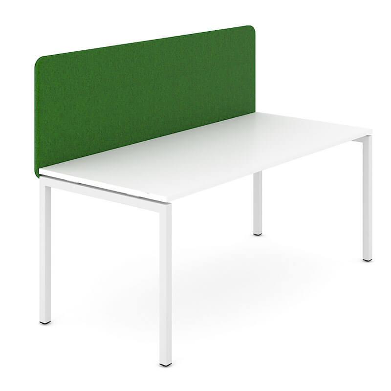 GS0 - Donkergroene akoestische scheidingswand Officetopper