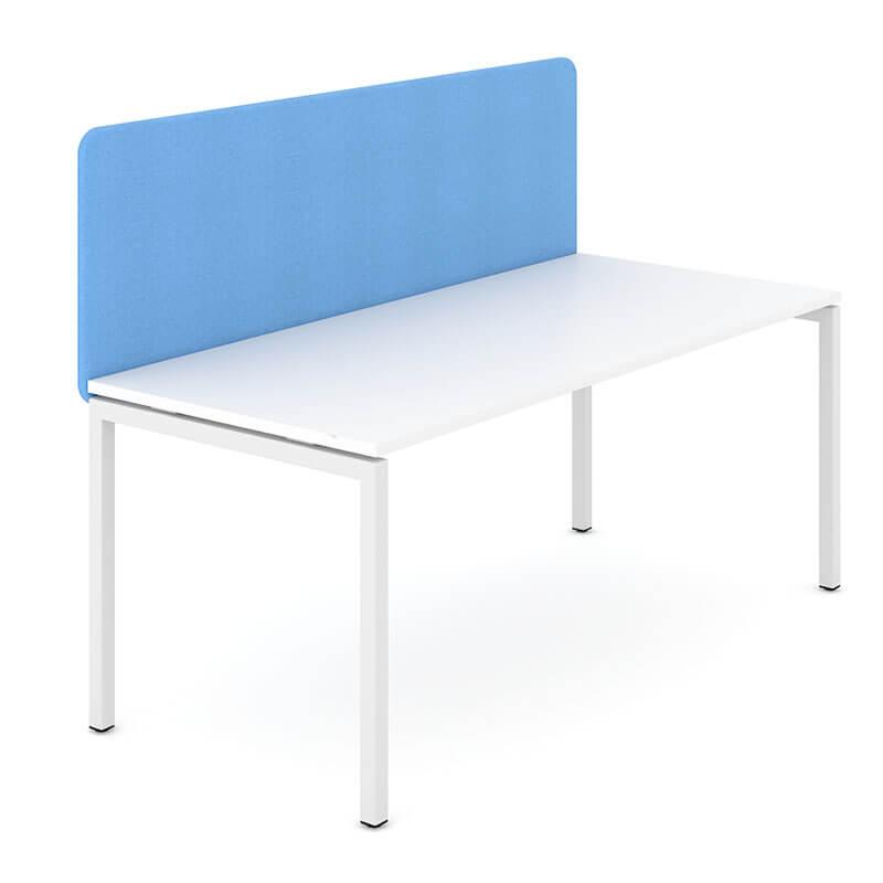 GS1 - Lichtblauwe akoestische scheidingswand Officetopper