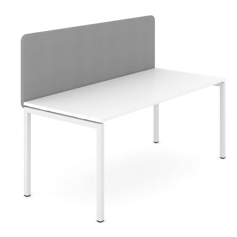 GZ2 - Grijs gestoffeerde bureauwand akoestisch Officetopper
