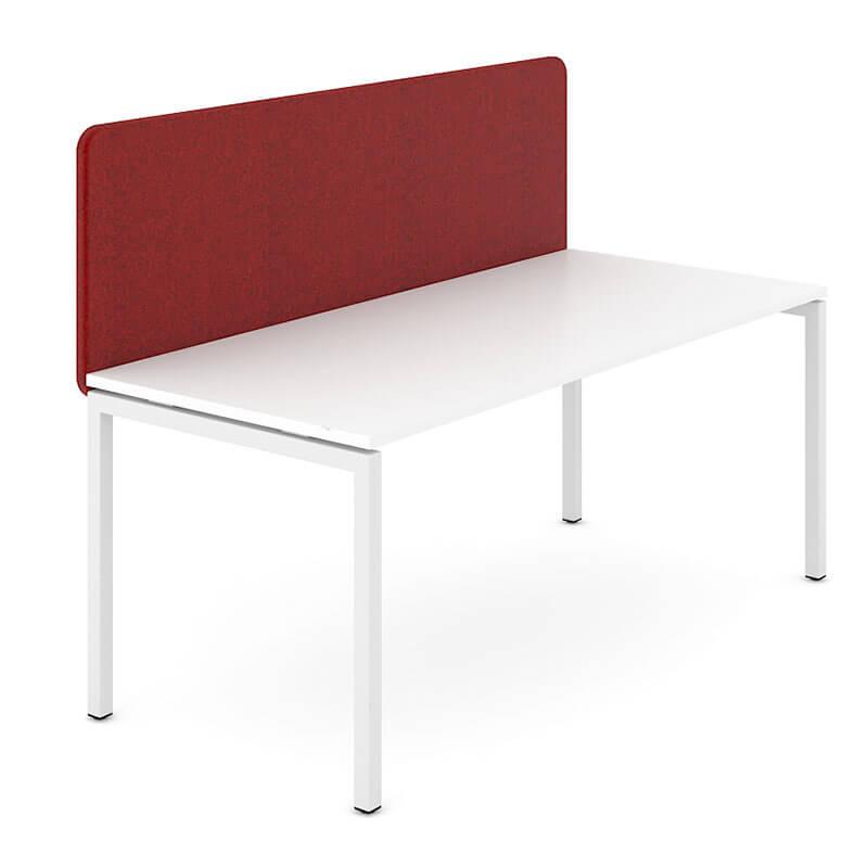 GZ5 - Rood gestoffeerde bureauwand Officetopper