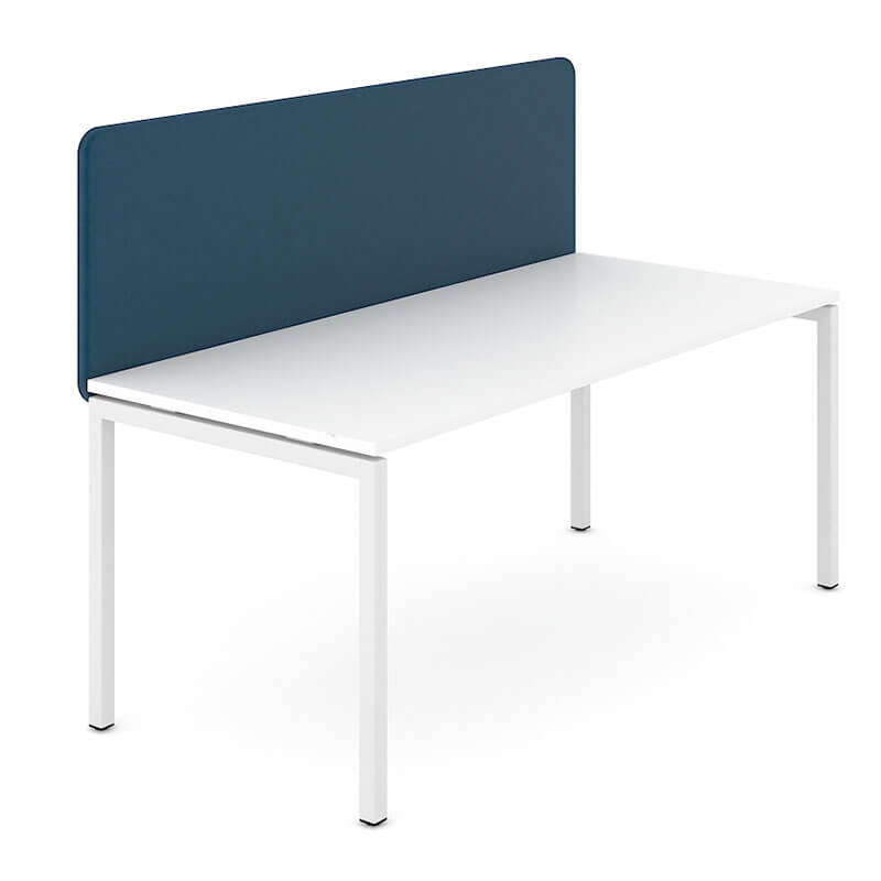 GZ6 - Donkerblauw gestoffeerde akoestische wand Officetopper