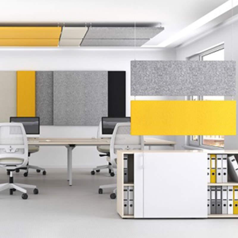 Hangende akoestische panelen voor op het kantoor Officetopper.com
