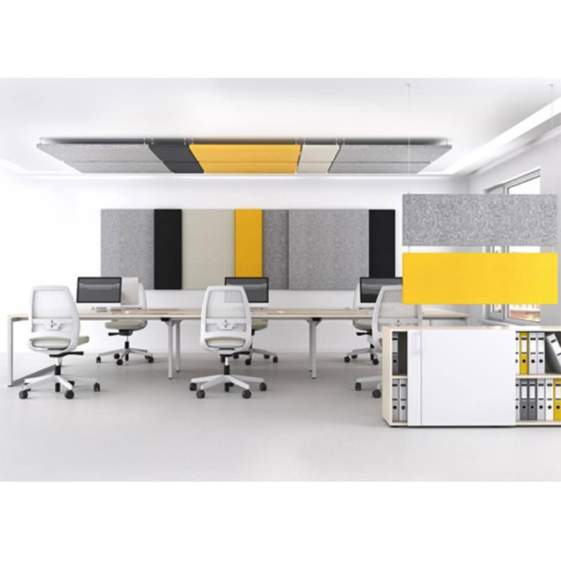 Horizontale akoestiek panelen voor op het kantoor Officetopper