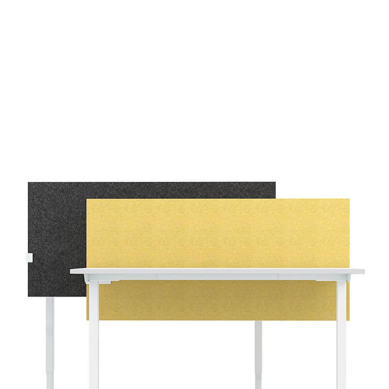 In hoogte verstelbaar akoestisch bureauscherm Officetopper