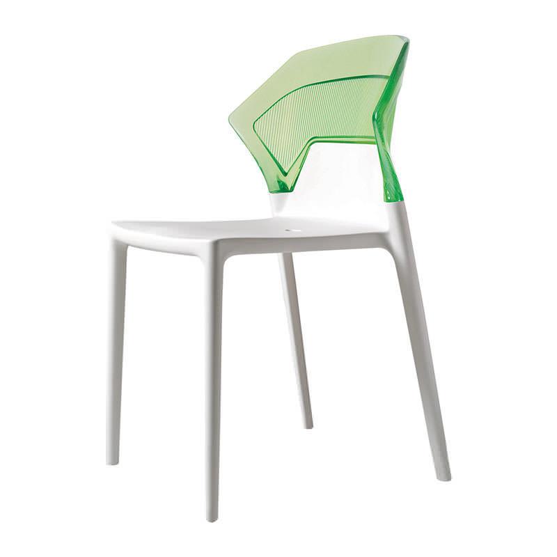 groen met witte kantinestoel Papatya Ego S Officetopper kantinestoelen