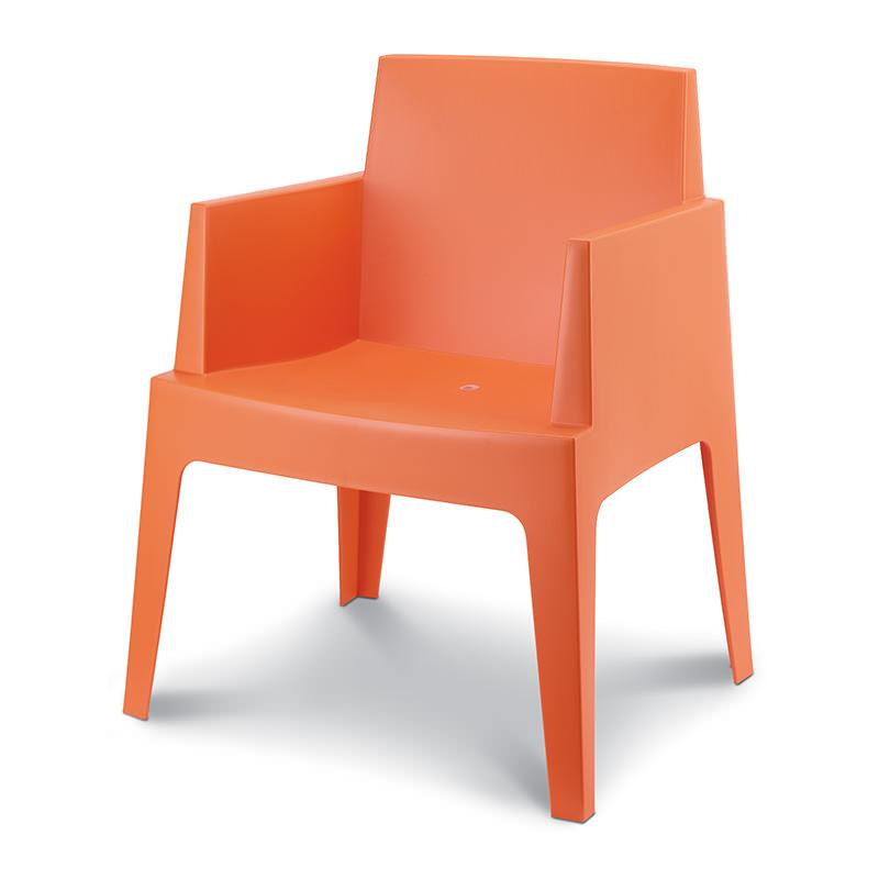 Oranje Kantinestoel Box, Siesta Box Officetopper kantinestoel (6)