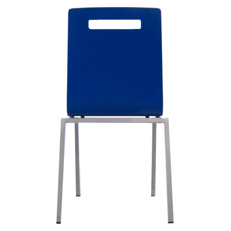 blauwe vergaderstoel Oscar kantinestoel Officetopper kantoormeubelen