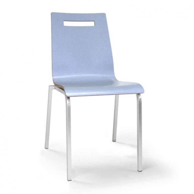 Laminaat blauwe conferentiestoel kantinestoel vergaderstoel Oscar Officetopper