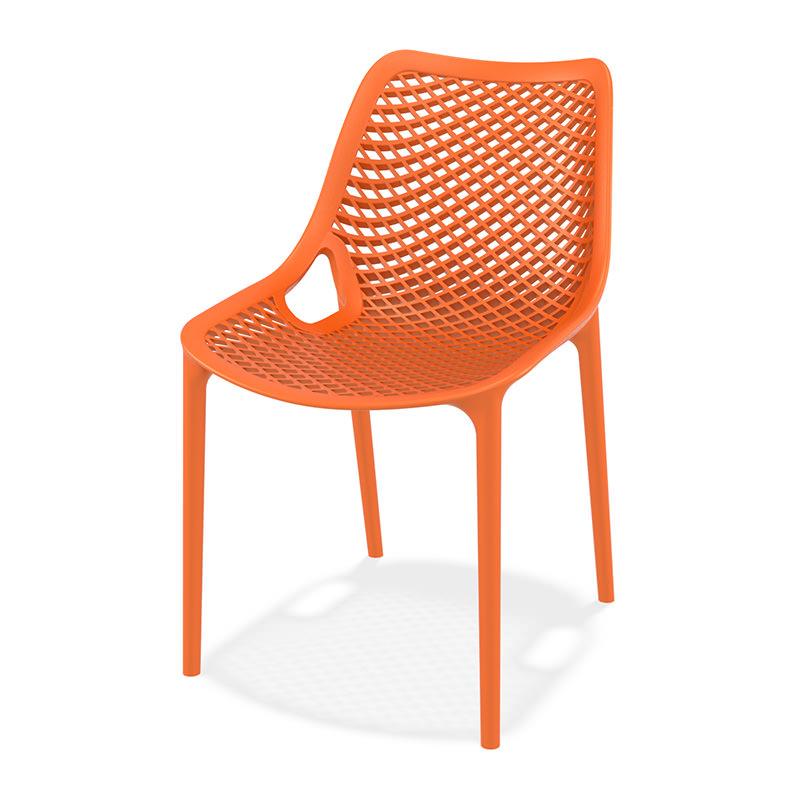 Oranje Kunststof kantinestoel Air Officetopper kantinemeubilair
