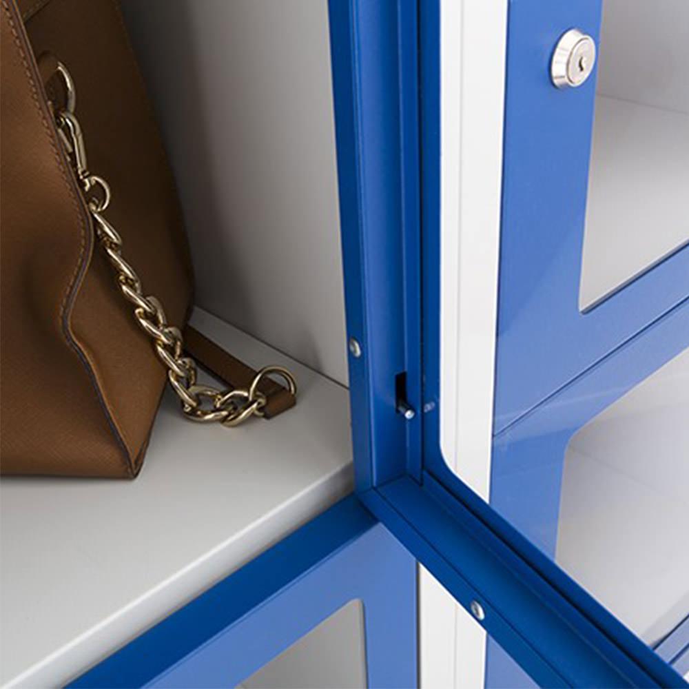 Locker met doorzichte deuren Officetopper lockerkasten