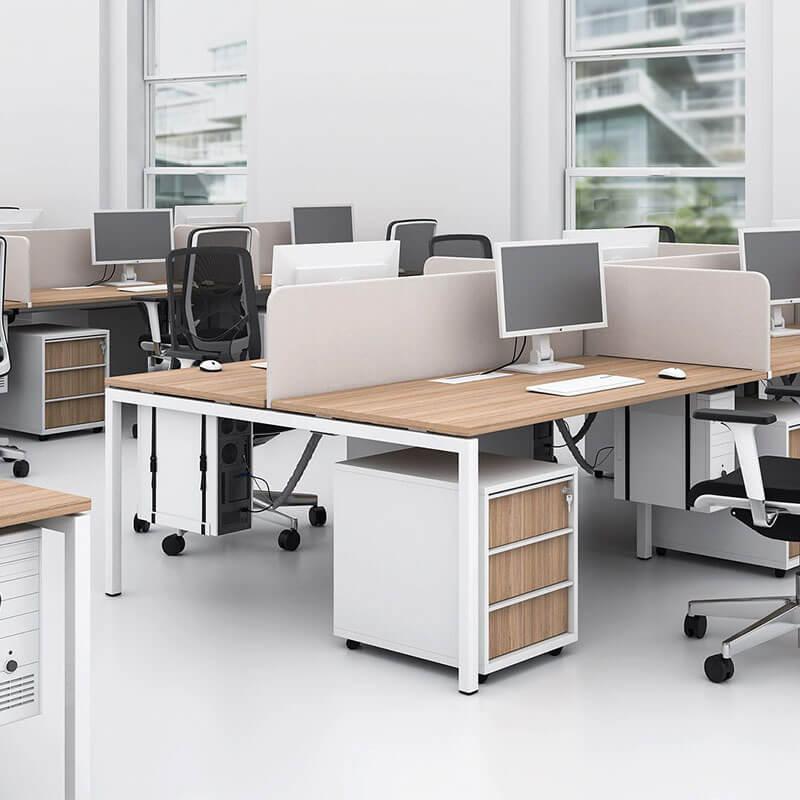 Houten ladenblok met 3 materiaalladen Officetopper