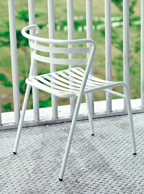 Design stoel Nic Officetopper metalen kantinestoel