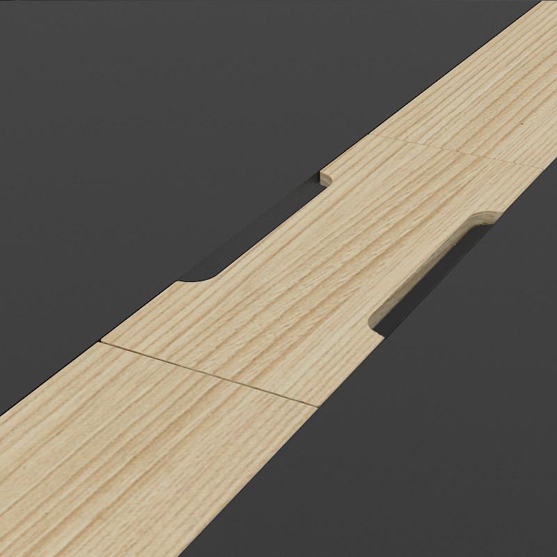 Kabeldoorvoerpunt van de Nova wood
