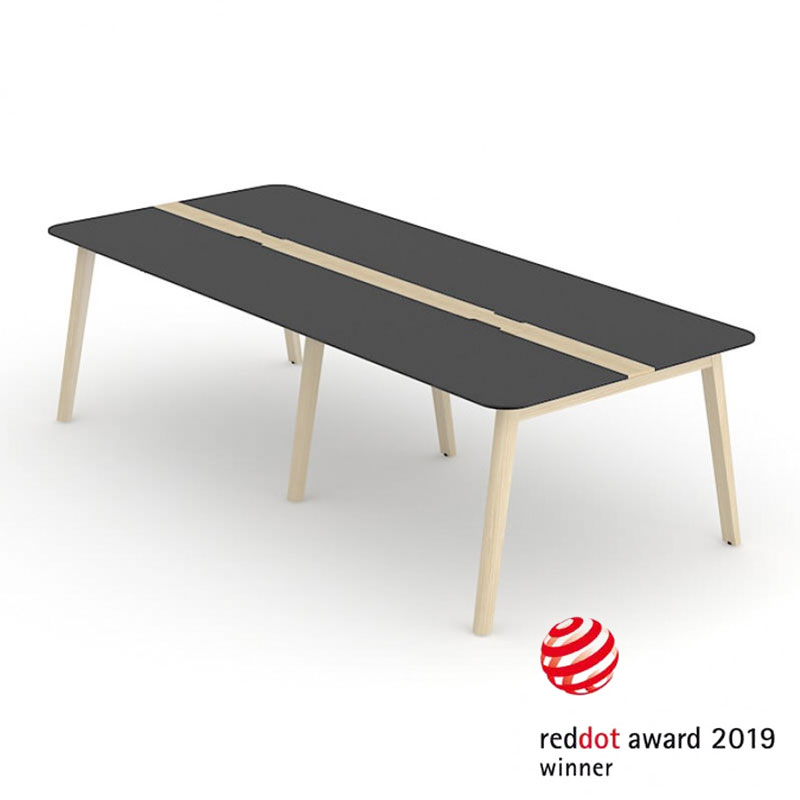 Nova Wood Vergadertafel Red Dot Design Award Officetopper kantoormeubelen