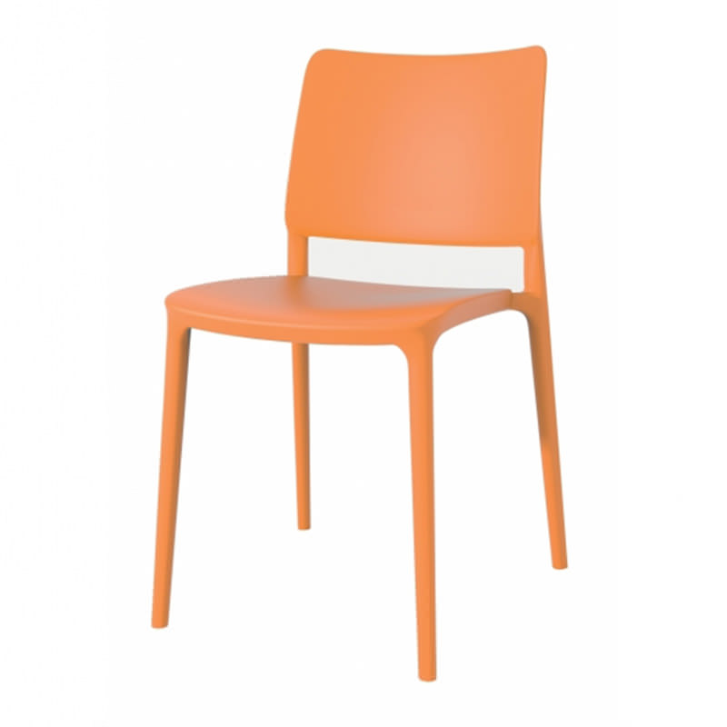 Orange Joy-S kantinestoel van Papatya Officetopper