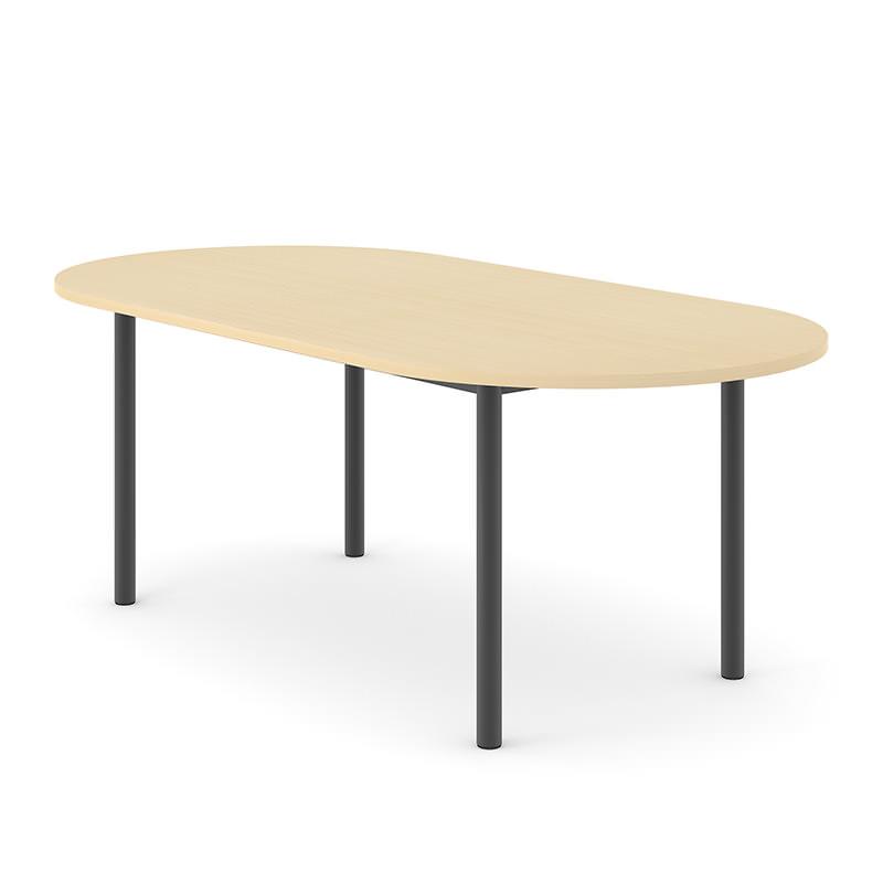 Ovale vergadertafel Optima 6 Officetopper vergadertafels 6 persoons