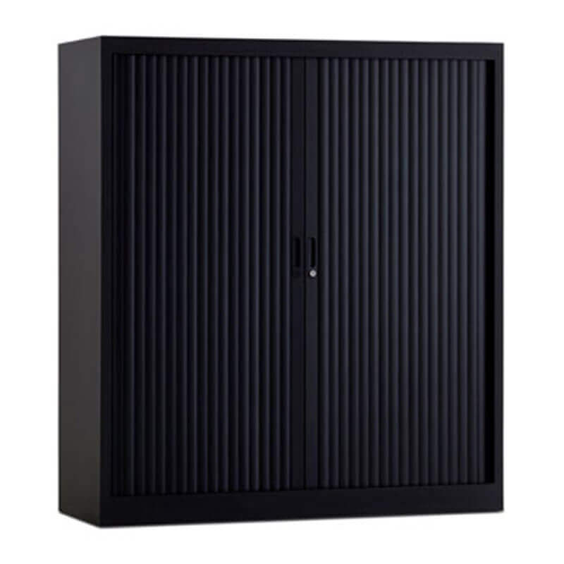 Zwarte roldeurkasten 120cm breed en 135 hoog