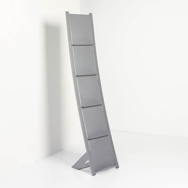 Stalen foldeurstandaar aluminium kleurig van Esch Prima Vista