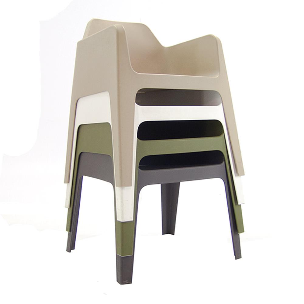Stapelbare kunststof Pedrali Plus stoelen Officetopper