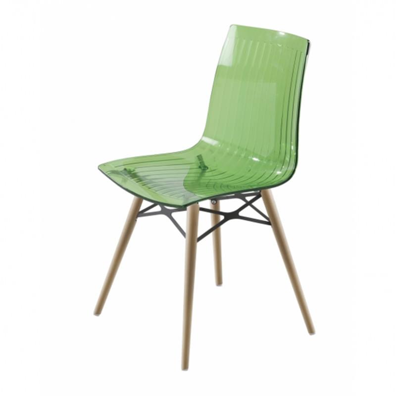 transparant groen blank beuken Kantinestoel Papatya X-teme S Wox Officetopper