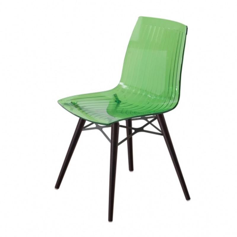 Transparant groen Wenge Kantinestoel Papatya X-teme S Wox Officetopper