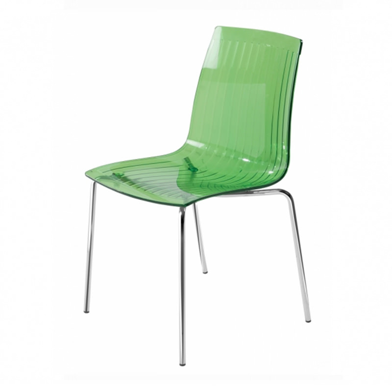 Transparant groene kantinestoel Papatya X-treme S Officetopper kantoormeubelen