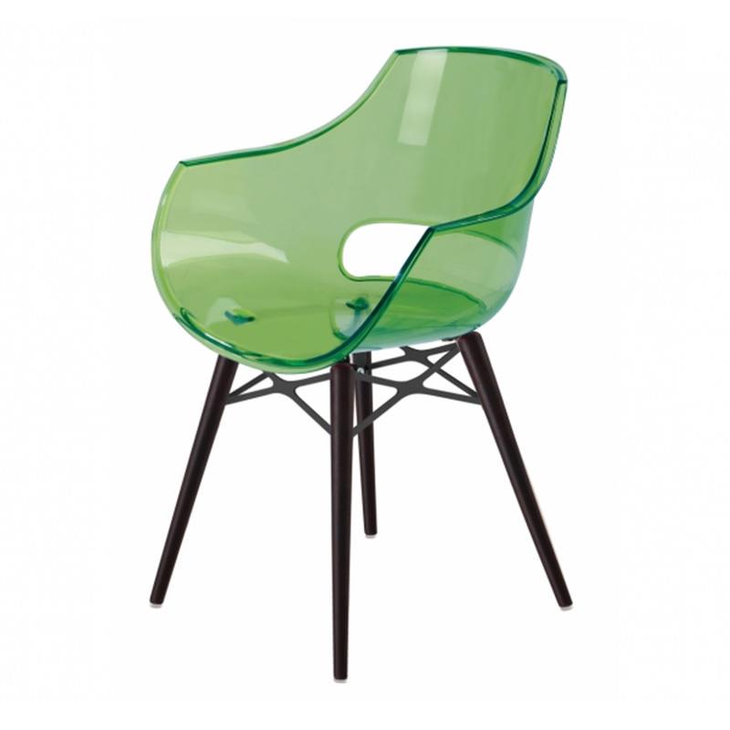 Transparant groene Papatya Opal Wox wenge beuken poten designstoel kantinestoel vergaderstoel Officetopper kantoormeubelen