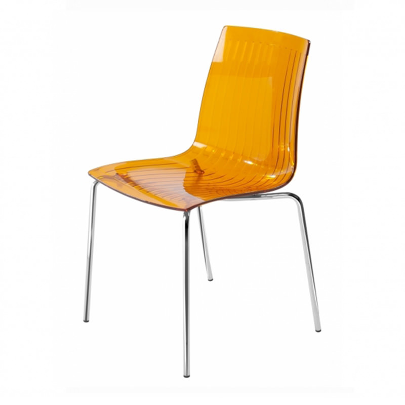 Transparant oranje kantinestoel Papatya X-treme S Officetopper kantoormeubelen
